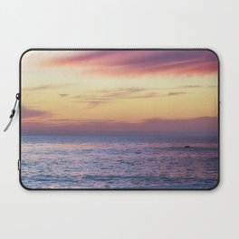 Pink Sunset over Carmel Beach Laptop Sleeve
