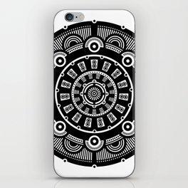 Modern Mandala (Black & White) iPhone Skin