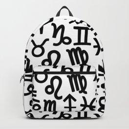 Zodiac signs background. Horoscope symbols. Astrology background Backpack
