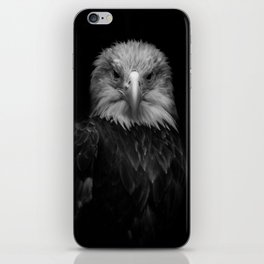 B&W Bald Eagle iPhone Skin
