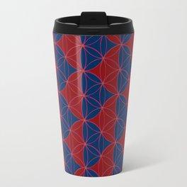 Heart Pattern Red Blue Travel Mug