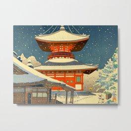 Asano Takeji Views of Wakayama Koyasan Nemoto Big Pagoda Japanese Woodblock print Metal Print