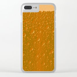 Orange Shade Bibble Background Clear iPhone Case