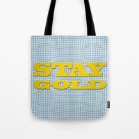 stay gold Tote Bags featuring Stay Gold by abominable