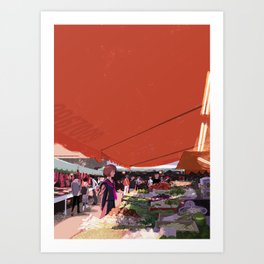 At a market in Taipei Art Print