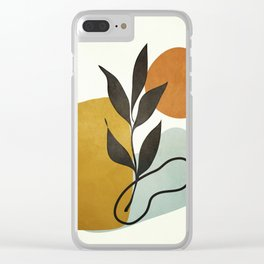 Soft Abstract Small Leaf Clear iPhone Case