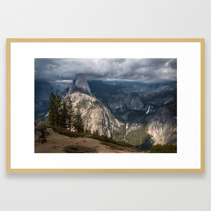 Storm Over Yosemite Framed Art Print