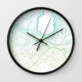 Secret places II - handmade green map Wall Clock