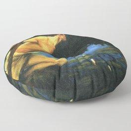 Siren by Albert Edelfelt Floor Pillow