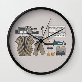 Groundhog Day - Essential items Wall Clock