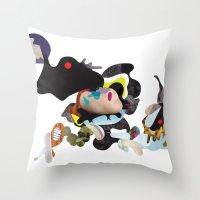 rhino Throw Pillows featuring Rhino by Maria Taari