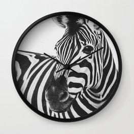 The Thoughtful Zebra Wall Clock