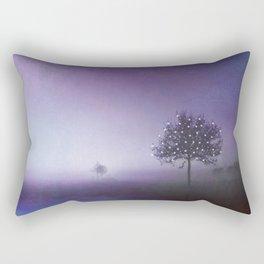 SOLITUDE IN TIME - PURPLE Rectangular Pillow