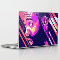 nba Laptop & iPad Skins featuring James harden nba illu v3 by mergedvisible