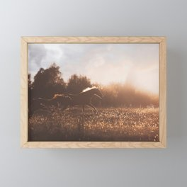 Horses after the Morning Feed Framed Mini Art Print