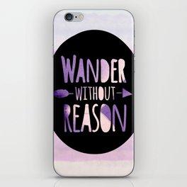 wander without reason purple haze iPhone Skin