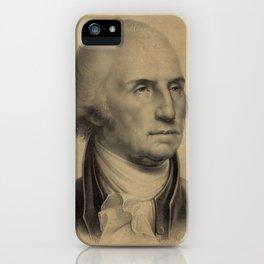 Vintage George Washington Portrait Illustration iPhone Case