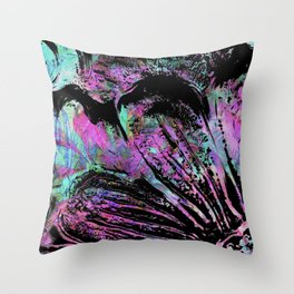 Dream Things Flower Abstract Throw Pillow