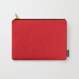 Ravishing Red Tulip Flower Solid Color Carry-All Pouch