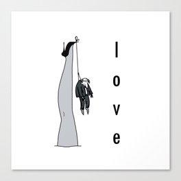 the woman's leg . love . art . Canvas Print