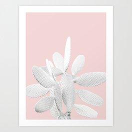 White Blush Cactus #1 #plant #decor #art #society6 Art Print