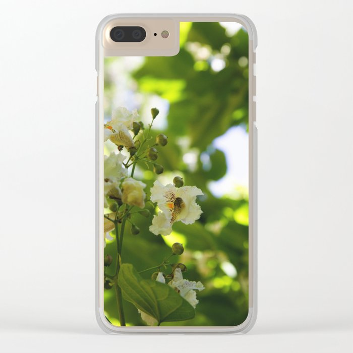 Flowers in the forest Clear iPhone Case