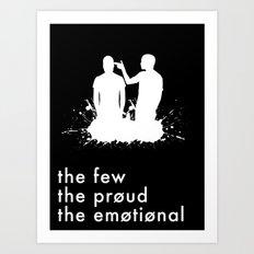 the few, the proud, the emotional // Twenty One Pilots Art Print