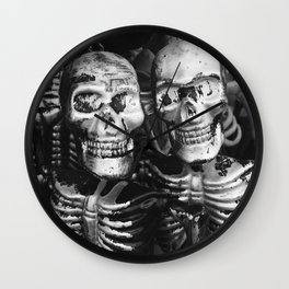 Skeleton Twins Wall Clock