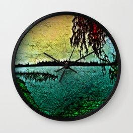 :: Lake View :: Wall Clock