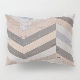 Reclaimed Barnwood Herringbone Pattern Pillow Sham