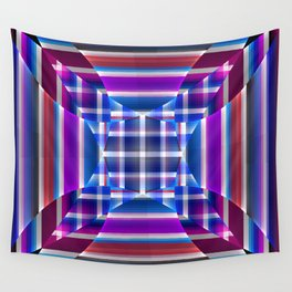 Modern geometric pattern, fractal abstract Wall Tapestry
