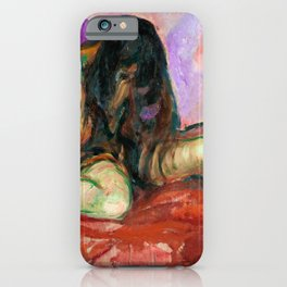 Edvard Munch - Weeping Nude - Digital Remastered Edition iPhone Case