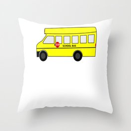 Student Short Bus VIP Throw Pillow