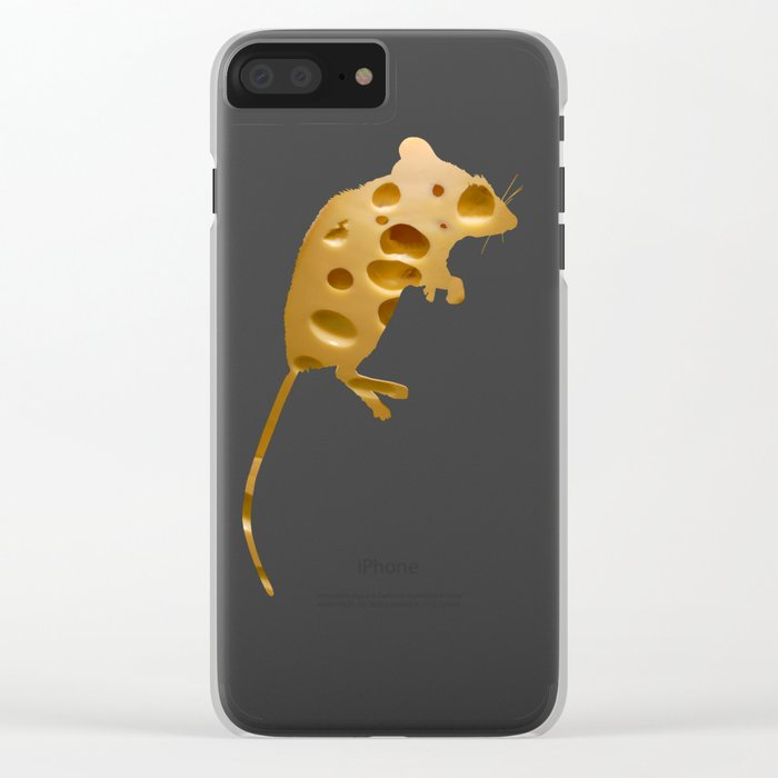 Mr. Cheese Clear iPhone Case