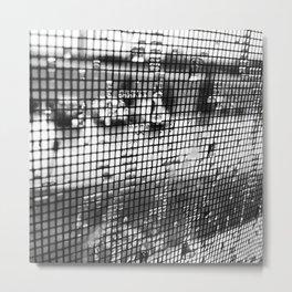 Rain Screen Metal Print