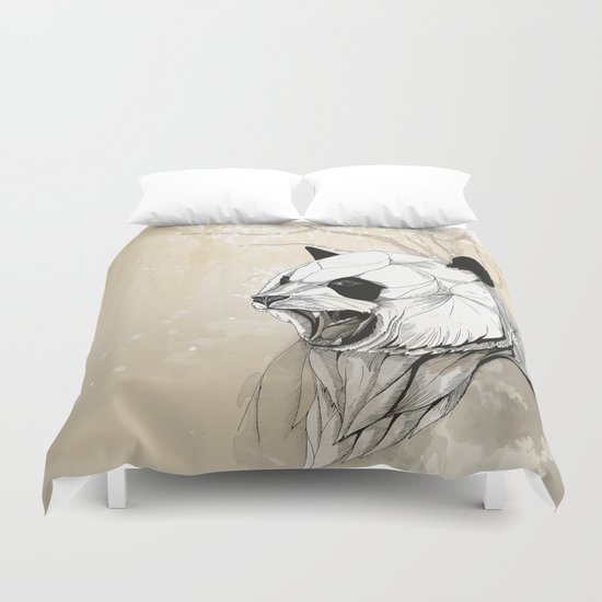 Angry Panda Duvet Cover
