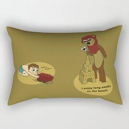 I Enjoy Long Ewoks on the Beach Rectangular Pillow