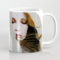 literary Mugs featuring Literary Girl by Charlotte Massey
