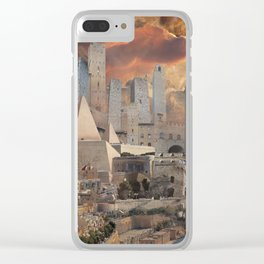 Ancient Fantasy City Clear iPhone Case