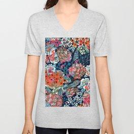 Ditsy Daisy Floral Unisex V-Neck