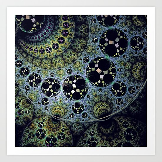 Miraculous patterns in circles Art Print