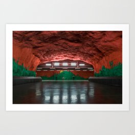 Solna Centrum Metro Station in Stockholm, Sweden II Art Print