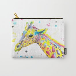 Giraffe - Watercolor Painting Carry-All Pouch