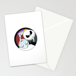 Jack & Sally Yin Yang Stationery Cards