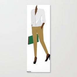 White Shirt A Canvas Print