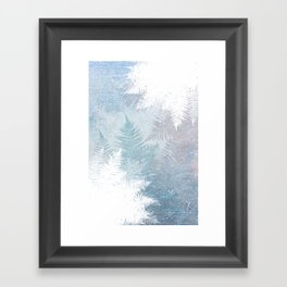 Fern Snowflakes - Taupe, Aqua & Blues Framed Art Print