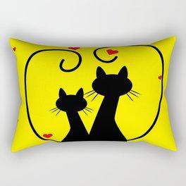 Valentine's Day Kittens Rectangular Pillow