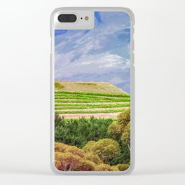 Greener on the Other Side Clear iPhone Case