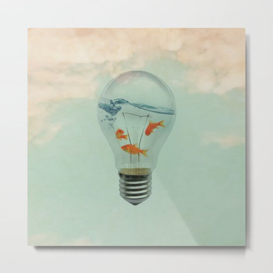 Ideas and Goldfish (RM) Metal Print