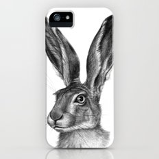 Cute Hare portrait G126 iPhone SE Slim Case